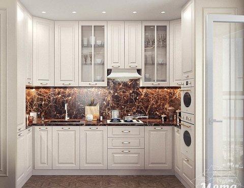 Дизайн интерьера гостиной и санузлов четырехкомнатной квартиры в ЖК Флагман